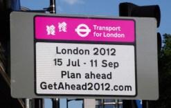London 2012 15 July to 11 Sep Plan ahead