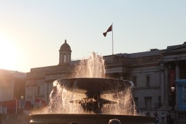 The fountain on Trafalgar Square