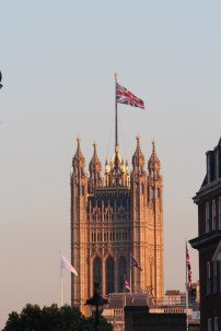 Union Jack over Westminster