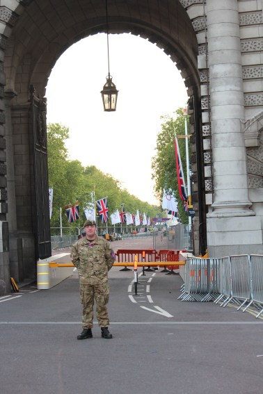 Armed forces protecting the Olympic venue