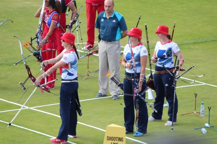 Team GB in action