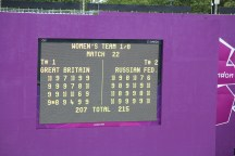 Final score in the GB vs Russia match