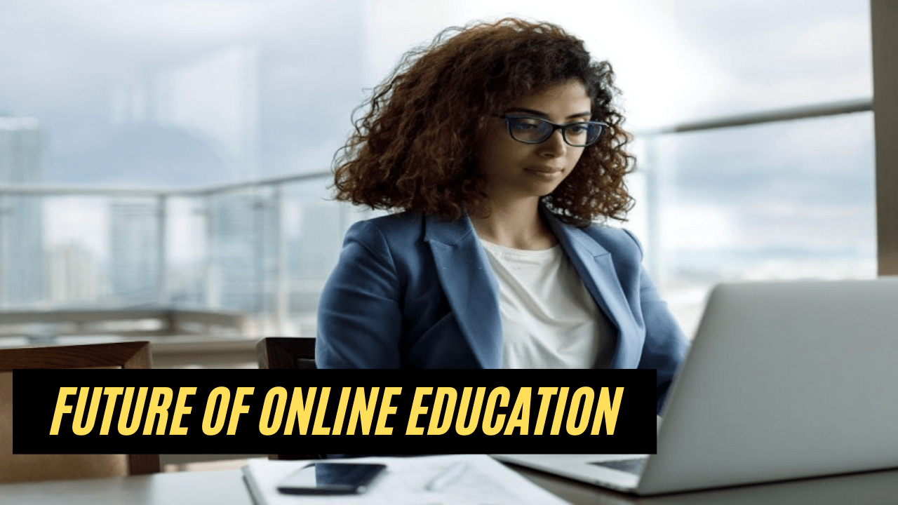 A student studying online