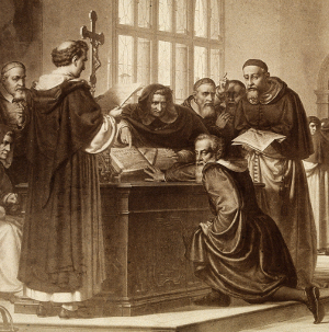 Galileo'sTrial; his scientific zeal led him to dismiss open-minded discourse as he dismissed religious dogma.
