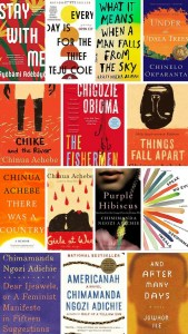 African literature- books by African authors.