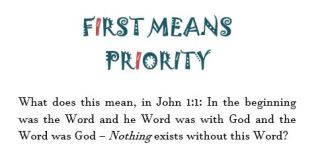 First means priority
