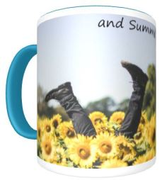 Giddy kick of yellow back mug