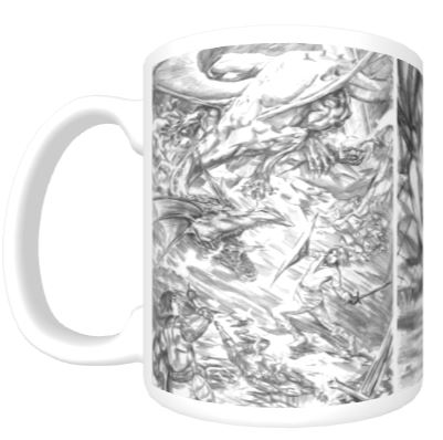 White Wren Mug back