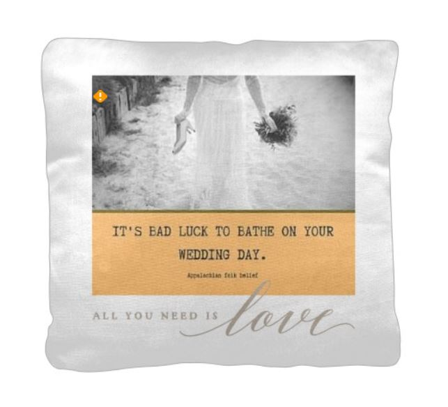 Bad luck wedding pillow