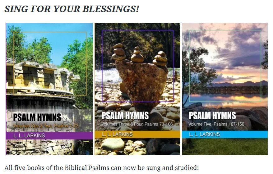 Capture all Five Psalm Hymns books