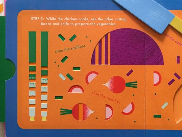 Interactive kids cookbook
