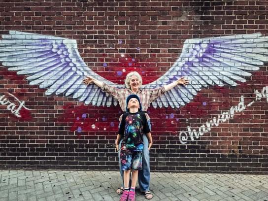 Carrel Hilton Sheldon and her grandson