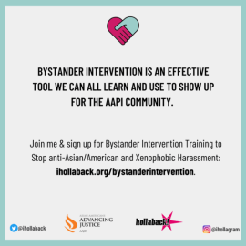 Hollaback bystander intervention training supporting AAPI community