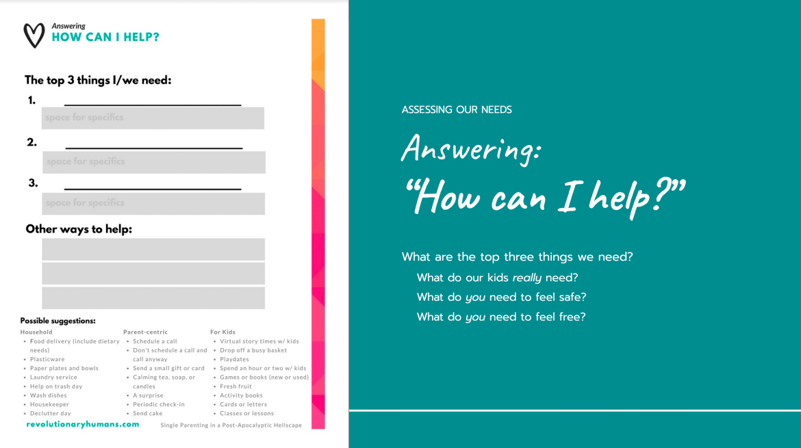 Answering 'How can I help' worksheet preview