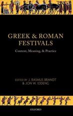ISBN: 9780199696093 - Greek and Roman Festivals