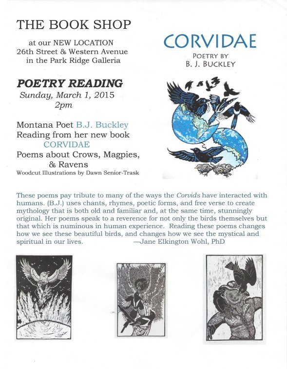 B. J. Buckley Poetry Reading Poster