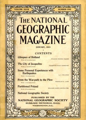 National Geographic - anno 1915