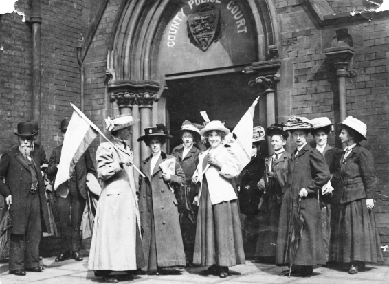 Suffragettes Demonstrating