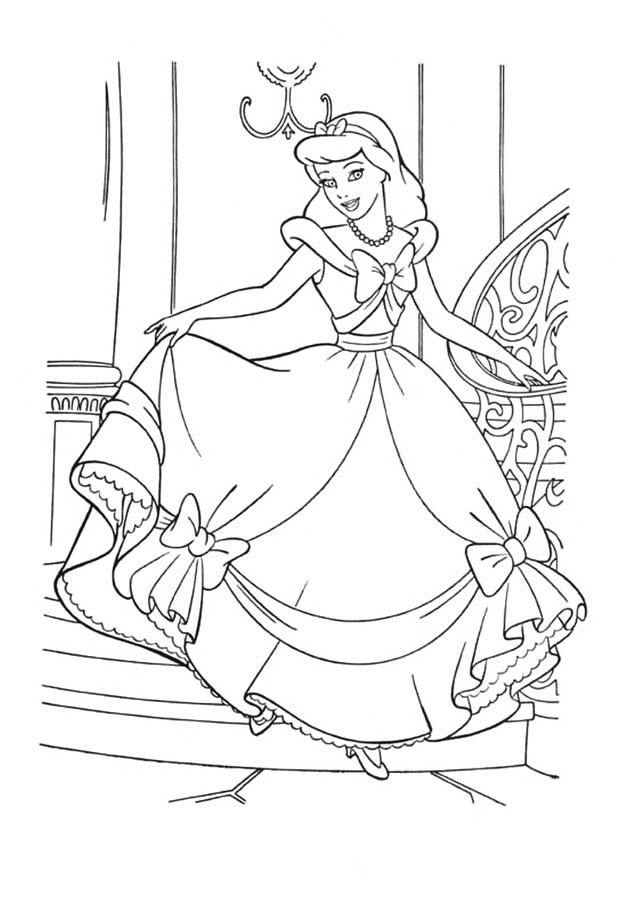 Раскраски принцессы диснея для девочек