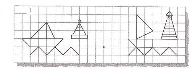 Графический диктант по клеточкам для 2 класса