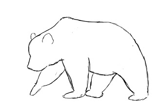07. Как нарисовать медведя поэтапно