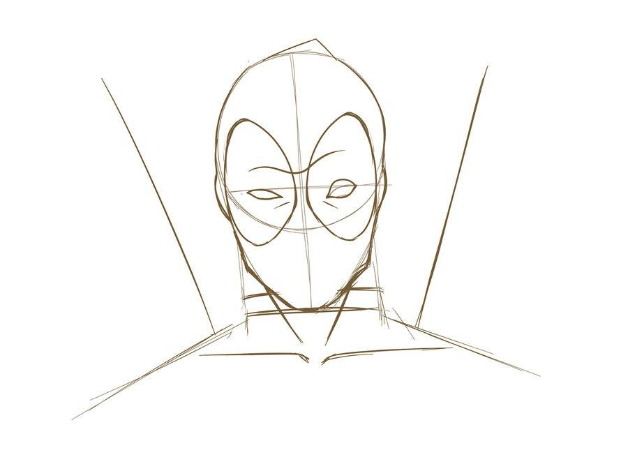 12. Как нарисовать дэдпула поэтапно