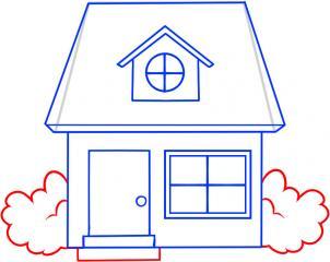 08. Как нарисовать дом - несложный вариант для детей