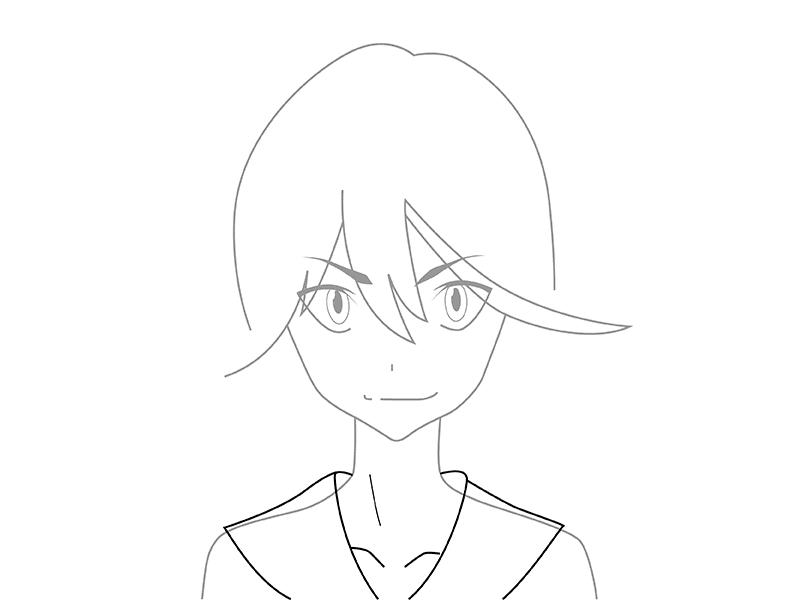 05. Как рисовать аниме – рисуем Рюко Матои