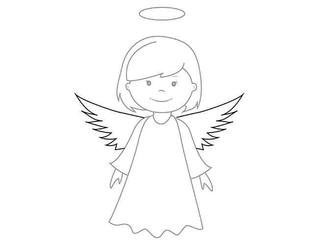 07. Как нарисовать ангела поэтапно