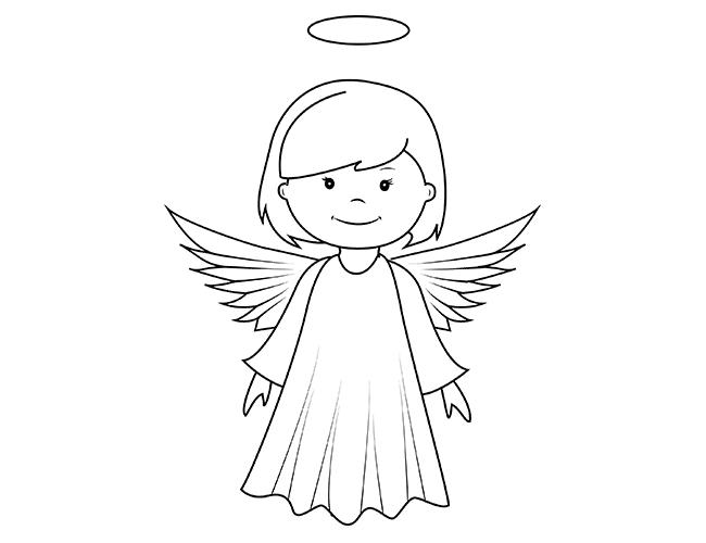 08. Как нарисовать ангела поэтапно