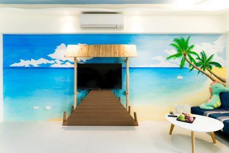 沙灘小腳印-海風四人房