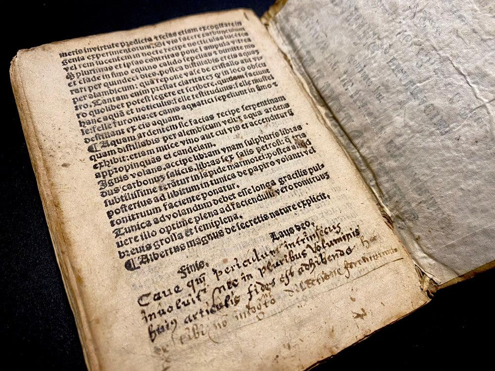 Finis page Liber secretorum. Alberti Magni, 1510