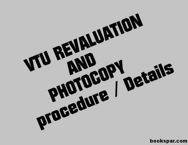 VTU Revaluation and Photocopy Application forms and