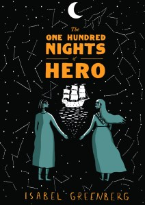 https://bookspoils.wordpress.com/2017/03/28/review-the-one-hundred-nights-of-hero-by-isabel-greenberg/