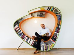 awesome-modern-artistic-bookworm-bookshelf-designs-circle-bookshelf-with-seat-space-in-the-middle-engineering-wood-and-stainless-leg-bookshelf-idea-furniture-bookshelf-idea
