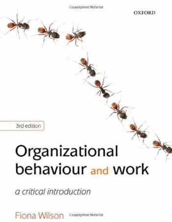 Sell, Buy or Rent Organizational Behaviour and Work: A