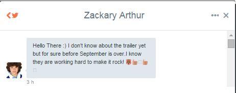 Zackary Arthus Movie Trailer Tweet