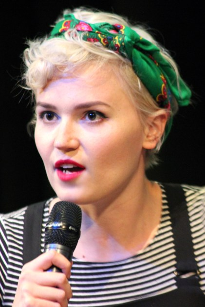 Veronica Roth moderates a panel on dystopia and YA.