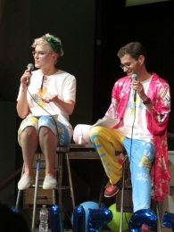 Our wonderful Smackdown hosts, Veronica Roth and Alex London.