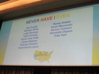 Never Have I Ever Participants List