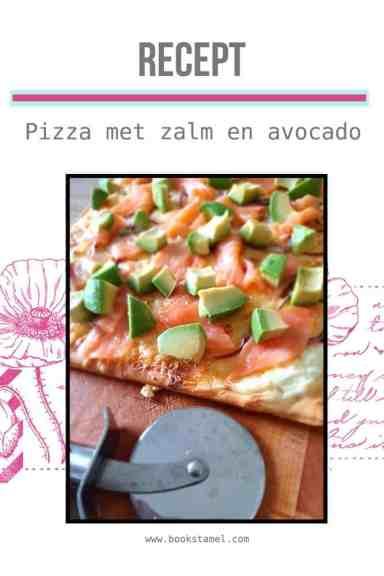 Pizza met zalm en avocado