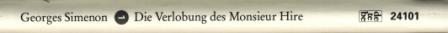 10 Simenon - Die Verlobung des Monsieur Hire