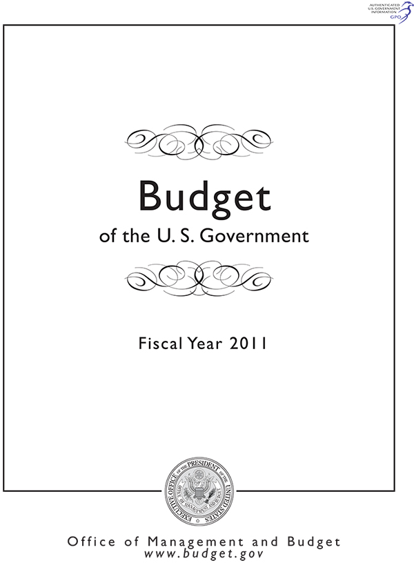 Budget of the U.S. Government, Fiscal Year 2011 (CD-ROM