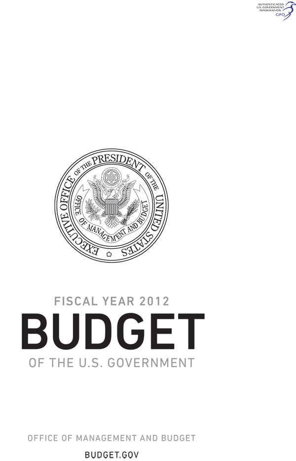 Fiscal Year 2012 Budget of the U.S. Government (CD-ROM