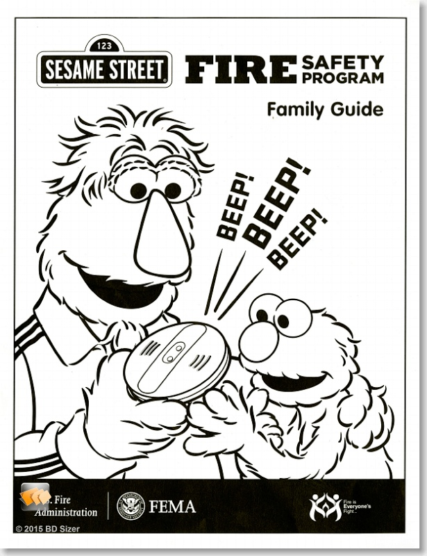 Sesame Street Fire Safety Program Family Guide (Package of