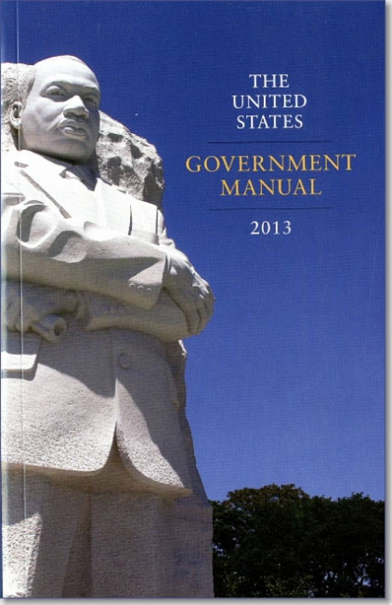 United States Government Manual 2013 lists all federal agencies