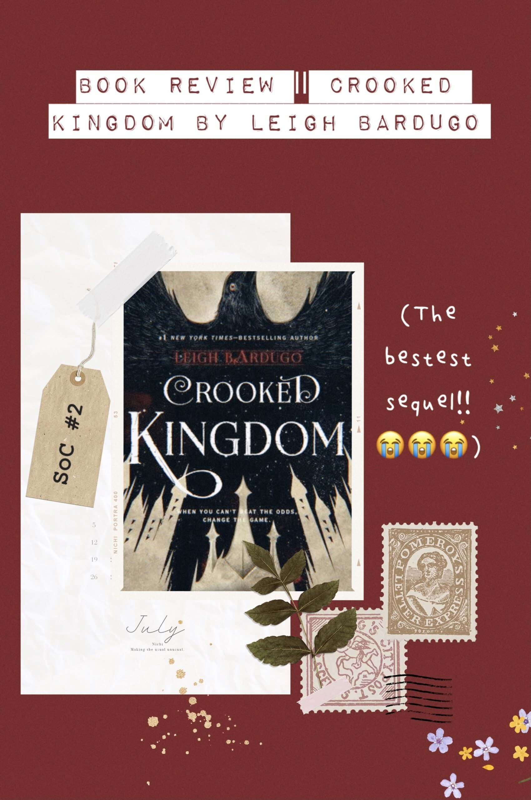 Book Review Crooked Kingdom by Leigh Bardugo
