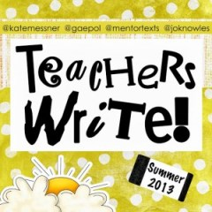 Teachers Write project 2013 logo