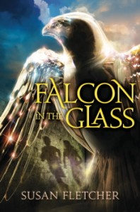 book cover of Falcon in the Glass by Susan Fletcher published by Margaret K McElderry Books