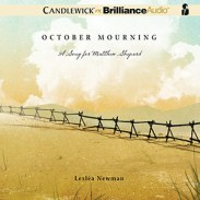 CD cover of October Mourning, By Lesléa Newman Read by Emily Beresford, Luke Daniels, Tom Parks, Nick Podehl,  Kate Rudd, & Christina Traister Published by Brilliance Audio